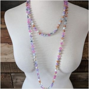 Endless Crystal Bead Necklace